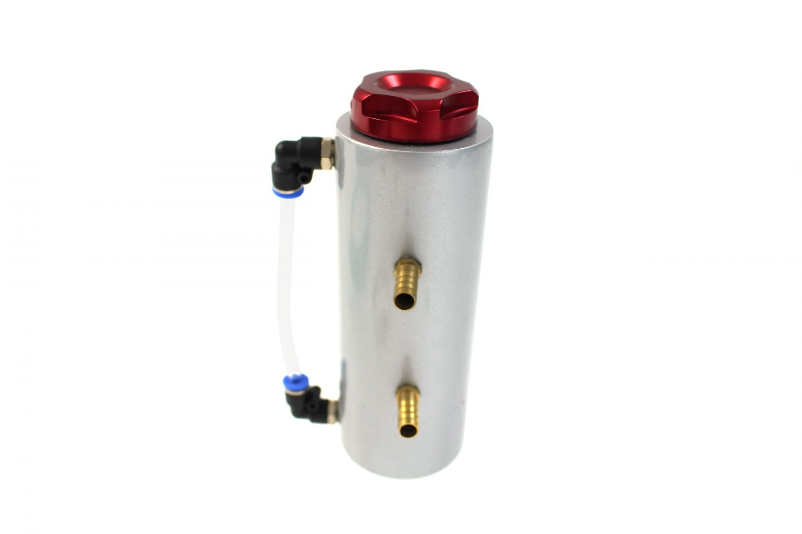 Oil catch tank 0.3L 9mm TurboWorks Silver - GRUBYGARAGE - Sklep Tuningowy